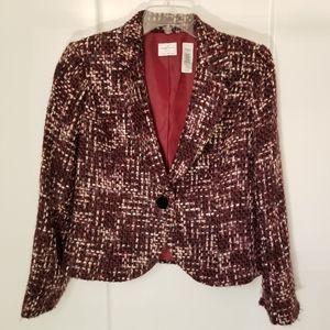 Emma James size 12p tweed blazer lined career